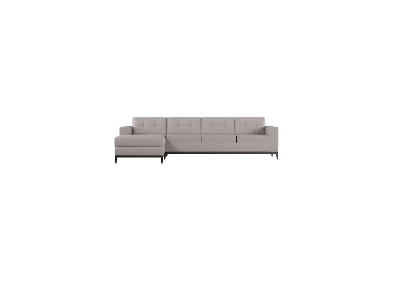 Sofá Chaise 4 lugares Suede Leave 260cm Mobly