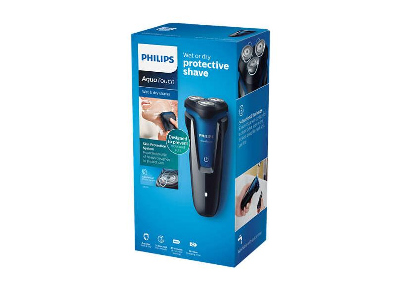 Barbeador Elétrico à Bateria recarregável e molhada Philips AquaTouch S1030