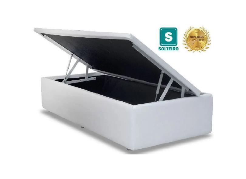 Base Cama Box Baú Solteiro com Baú Pistão a gás 88cm AColchões