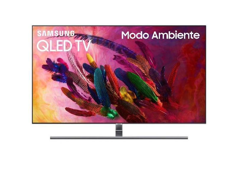 """Smart TV TV QLED 75"""" Samsung Q7FN 4K HDR Netflix QN75Q7FN 4 HDMI"""