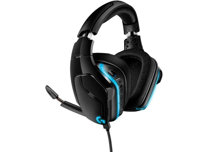 Headset Gamer com Microfone Logitech G635
