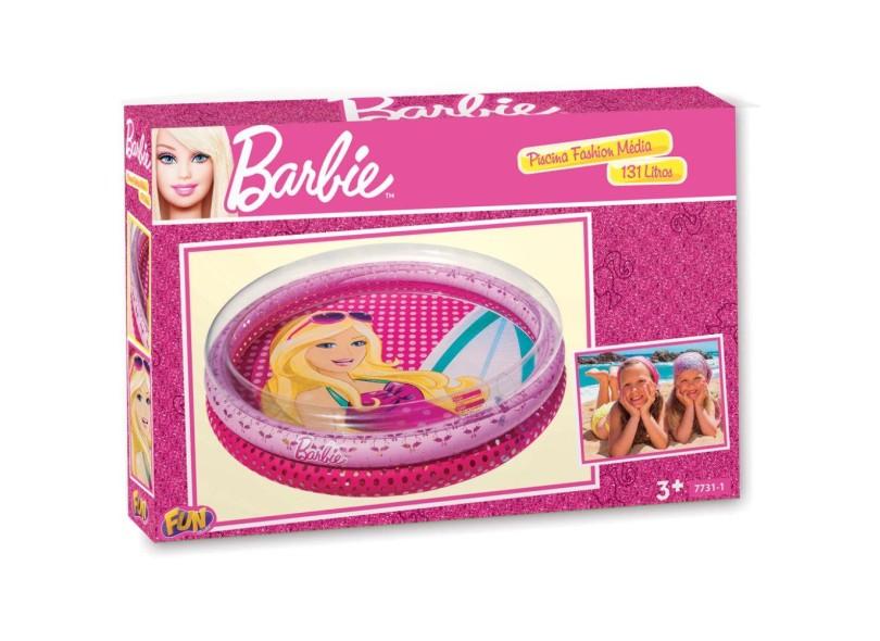 Piscina Inflável 131 l Redonda Fun Fashion Barbie