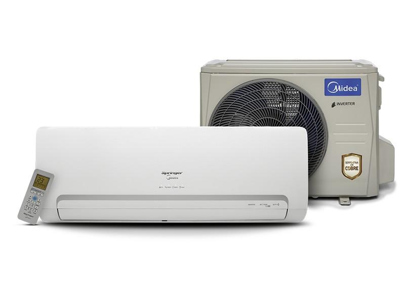 Ar Condicionado Split Hi Wall Springer Midea 12000 BTUs Inverter Controle Remoto Quente/Frio 42MBQA12M5 / 38MBQA12M5