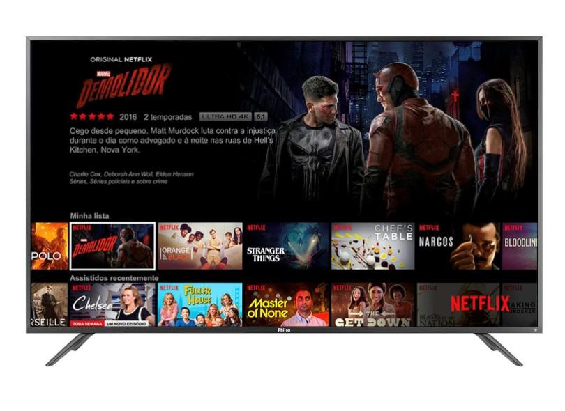 "Smart TV TV LED 60 "" Philco 4K Netflix PTV60F90DSWN 3 HDMI"