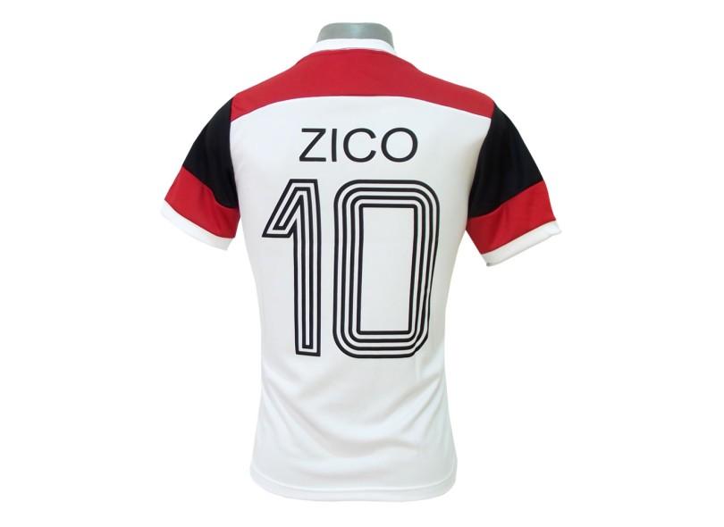Camisa Retrô Flamengo Retrô Zico Braziline