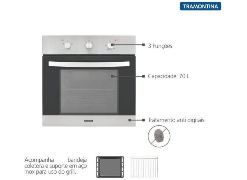 Forno de Embutir Elétrico Tramontina 70 l Inox 94864222