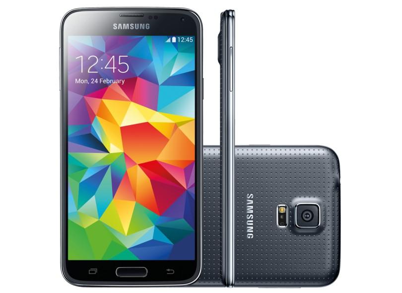 Smartphone Samsung Galaxy S5 G900M Câmera 16,0 MP 16GB Android 4.4 (Kit Kat) 4G Wi-Fi 3G