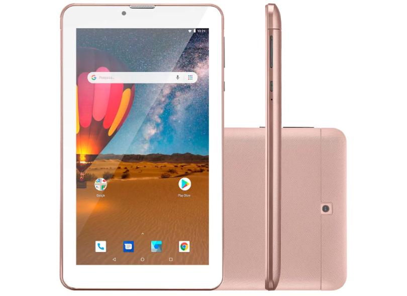 """Tablet Multilaser M7 Plus Quad Core 3G 16GB LCD 7"""" Android 8.1 (Oreo) 2 MP"""