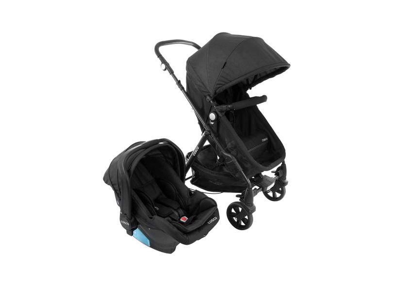 Carrinho de Bebê Travel System com Bebê Conforto Cosco Poppy TS Duo