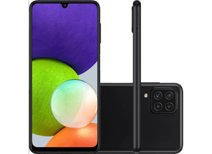 Smartphone Samsung Galaxy A22 4 GB 128GB Câmera Quádrupla 2 Chips Android 11