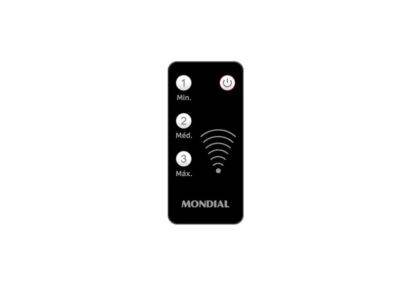 Ventilador de Mesa com Controle Remoto Mondial Turbo Touch Control VT-CR-41-6P 40 cm 6 Pás 3 Velocidades