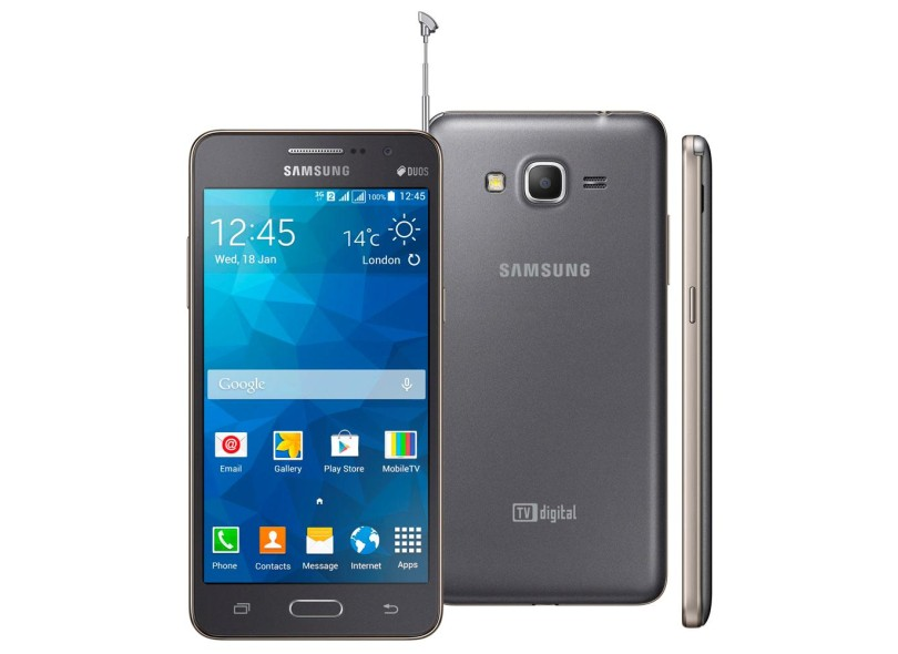 Smartphone Samsung Galaxy Gran Prime Duos G530H 2 Chips 8GB Android 4.4 (Kit Kat) 3G Wi-Fi