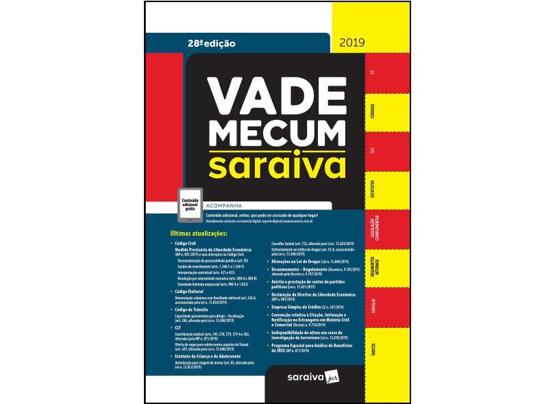 Vade Mecum Saraiva: Tradicional - 28ª edição de 2019 - Vários Autores - 9788553612451