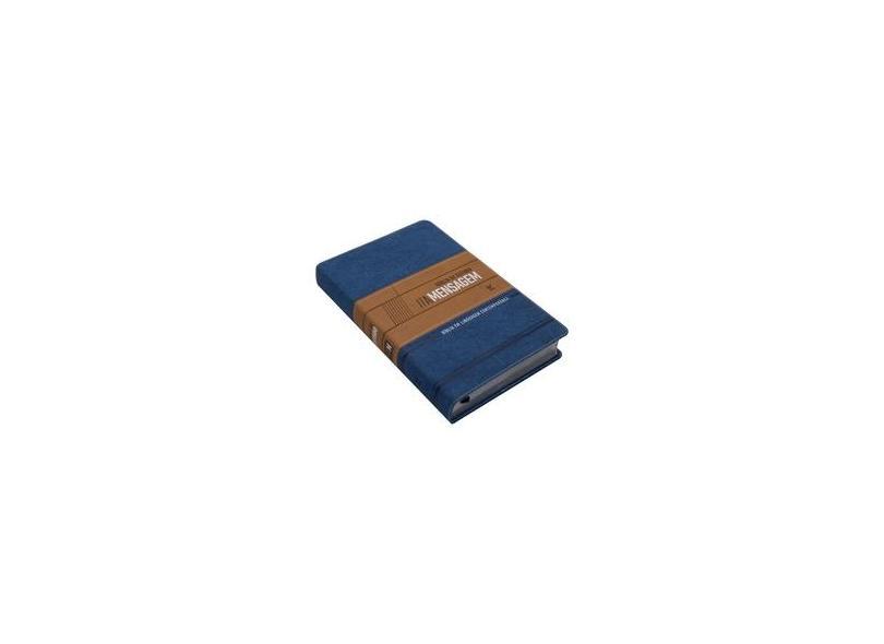 Bíblia de Estudo a Mensagem CP Azul e Bege - Encadernação De Couro - 9788000003573