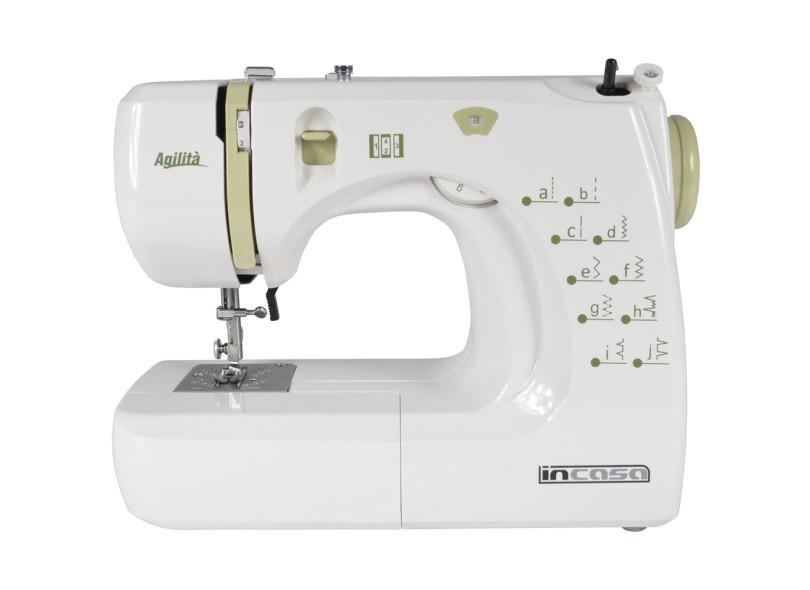 Máquina de Costura Doméstica Ziguezaque Ponto Invisível Agilitá ZX1000 - Incasa