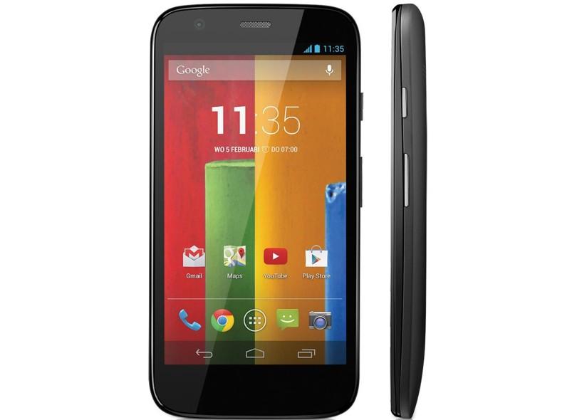 Smartphone Motorola Moto G Dual XT1033 Câmera 5,0 MP Desbloqueado 2 Chips 8 GB Android 4.3 (Jelly Bean) Wi-Fi 3G