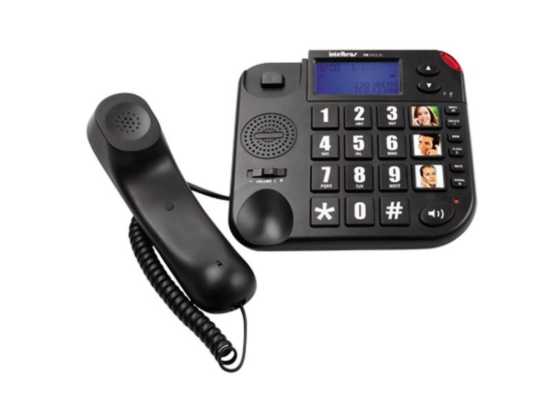 Telefone Com Fio Intelbras Tok Fácil ID
