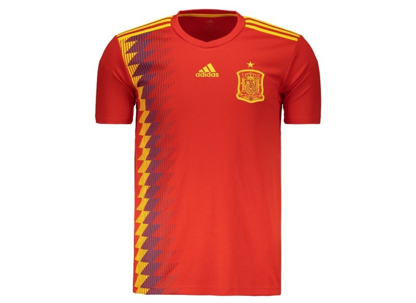 Camisa Torcedor Espanha I 2018 sem Número Adidas