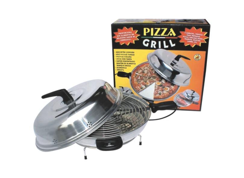 Churrasqueira Elétrica Cotherm Com Tampa Pizza Grill