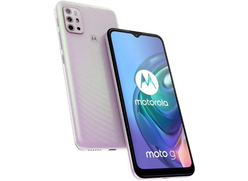 Smartphone Motorola Moto G G10 XT2127-1 4 GB 64GB Câmera Quádrupla Qualcomm Snapdragon 460 2 Chips Android 11