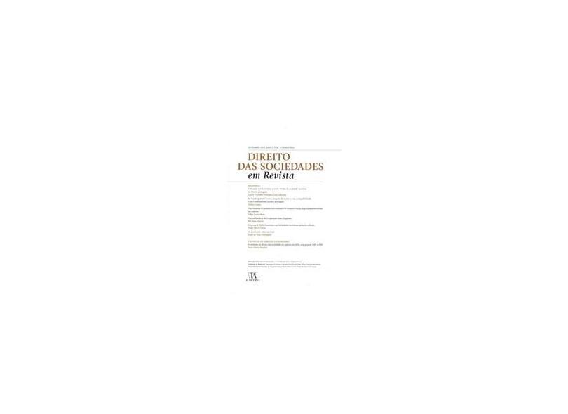 Direito das Sociedades em Revista - Ano 2. Volume 4 - Pedro Pais De Vasconcelos - 9789724043364
