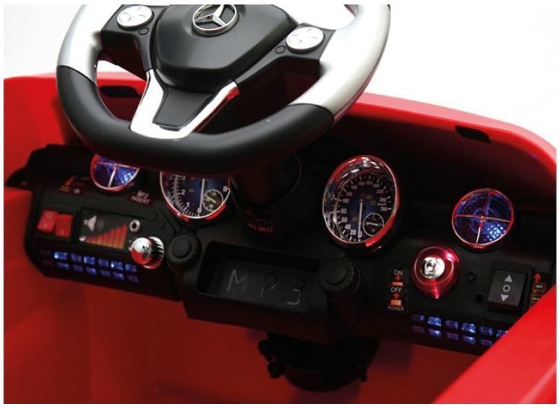 Mini Carro Elétrico Mercedes-Benz 702 6V com Controle Remoto - Xalingo