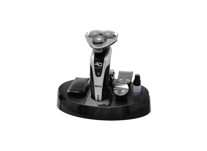 Barbeador Elétrico à Bateria recarregável Philco 4D