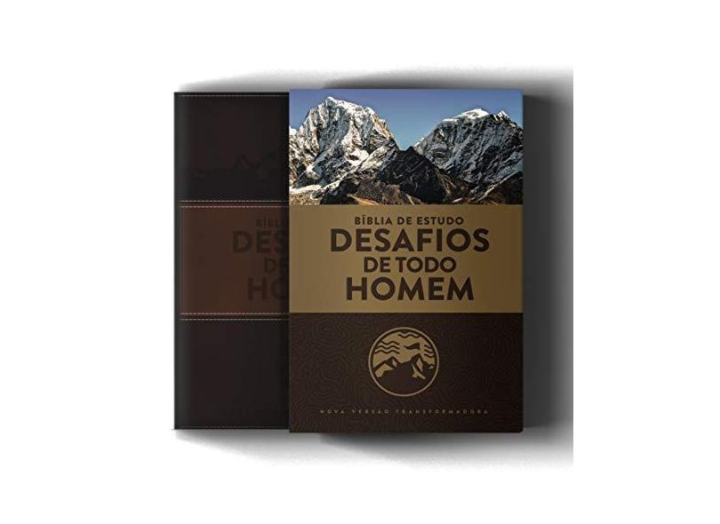 Bíblia De Estudo NVT- Desafios De Todo Homem - Capa Marrom - 3ª Ed. - Mundo Cristão - 9788543302973
