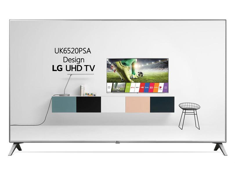 """Smart TV TV LED 86 """" LG ThinQ AI 4K Netflix 86UK6520PSA 4 HDMI"""