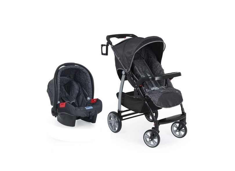 Carrinho de Bebê Travel System com Bebê Conforto Burigotto Modulo