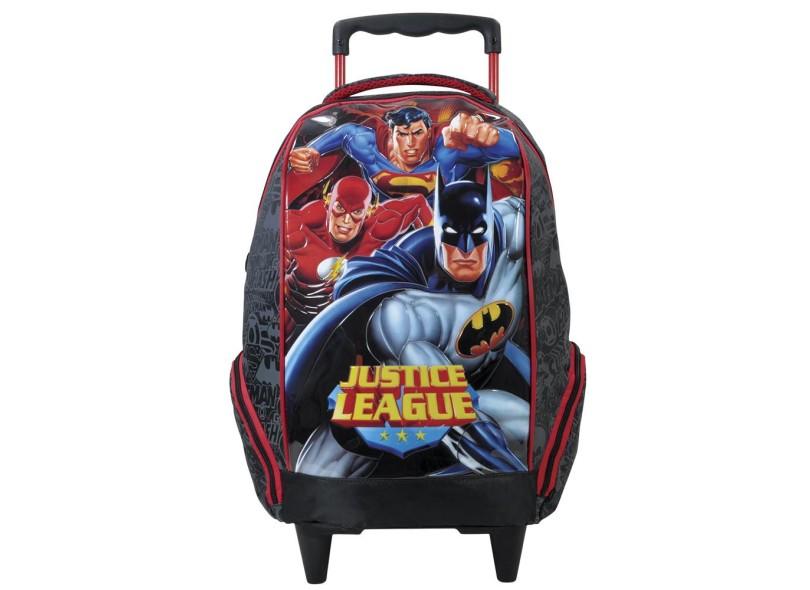 Mochila com Rodinhas Escolar Xeryus Liga da Justiça Super Amigos 16 5710