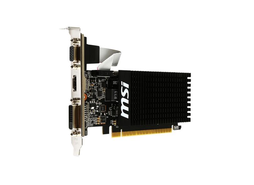 Placa de Video NVIDIA GeForce GT 710 1 GB DDR3 64 Bits MSI GT 710 1GD3H LP