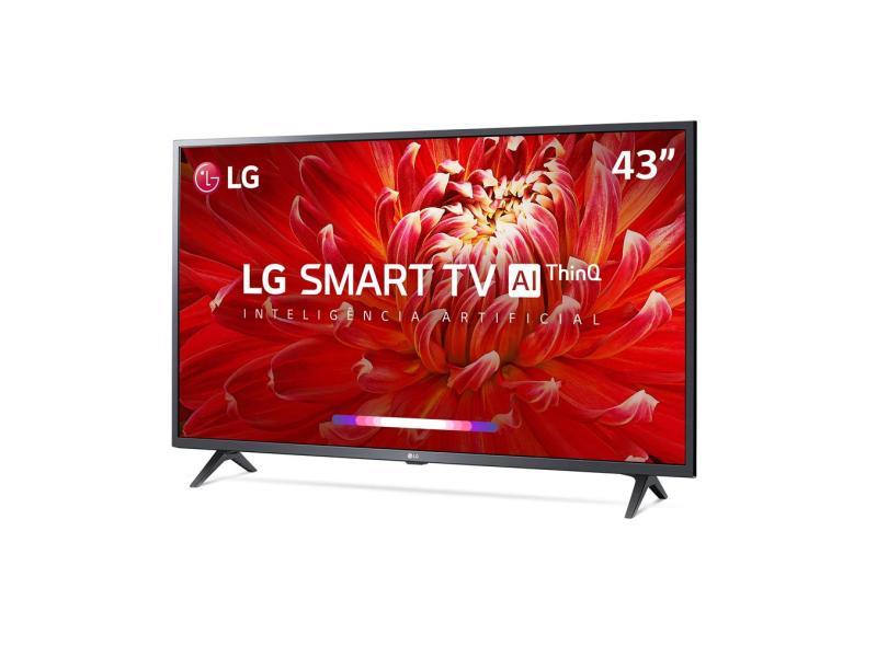 "Smart TV TV LED 43 "" LG ThinQ AI Full Netflix 43LM6300PSB 3 HDMI"