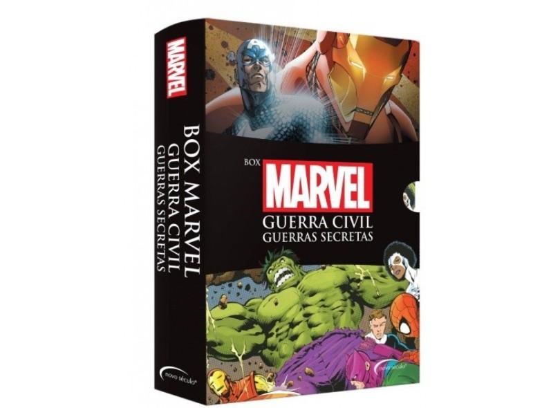 Box Marvel: Guerra Civil + Guerras Secretas - Acompanha Pôster - Edição Exclusiva B2w - Alex Irvine - 9788542808179