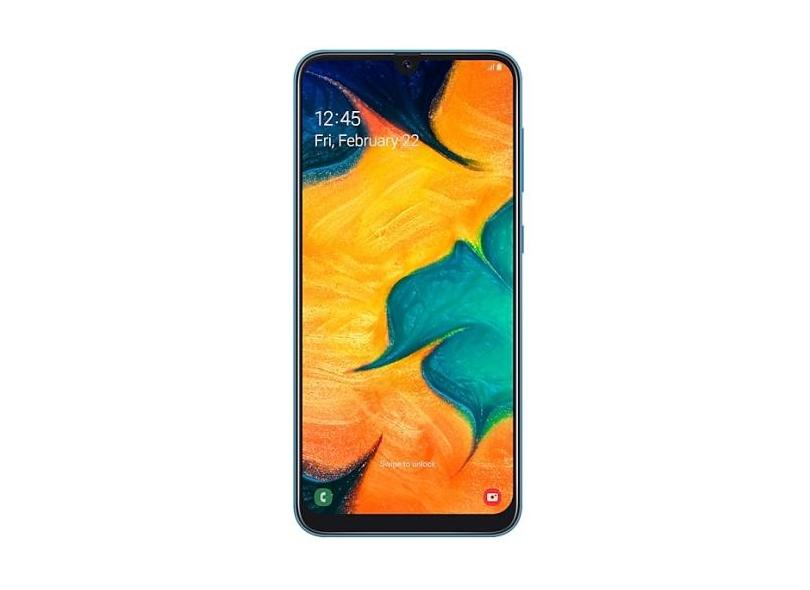 Smartphone Samsung Galaxy A30 SM-A305GZ 64GB 16,0 MP 2 Chips Android 9.0 (Pie) 3G 4G Wi-Fi