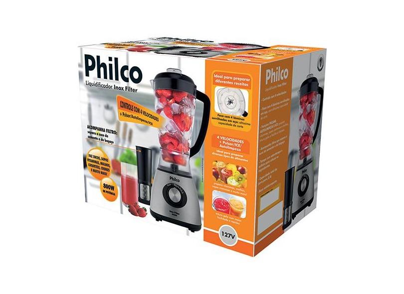 Liquidificador Philco Inox Filter 103101023 2.4 l 4 Velocidades 800 W