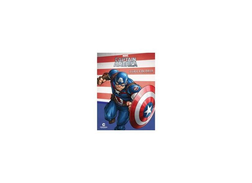 """Livro Médio Ler E Colorir - Capitão América - """"rodrigues, Naihobi Steinmetz"""" - 9788594720610"""