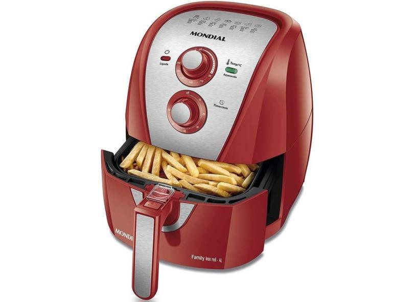 Fritadeira Elétrica Sem óleo Mondial Air Fryer Family AFN-40 4l Inox