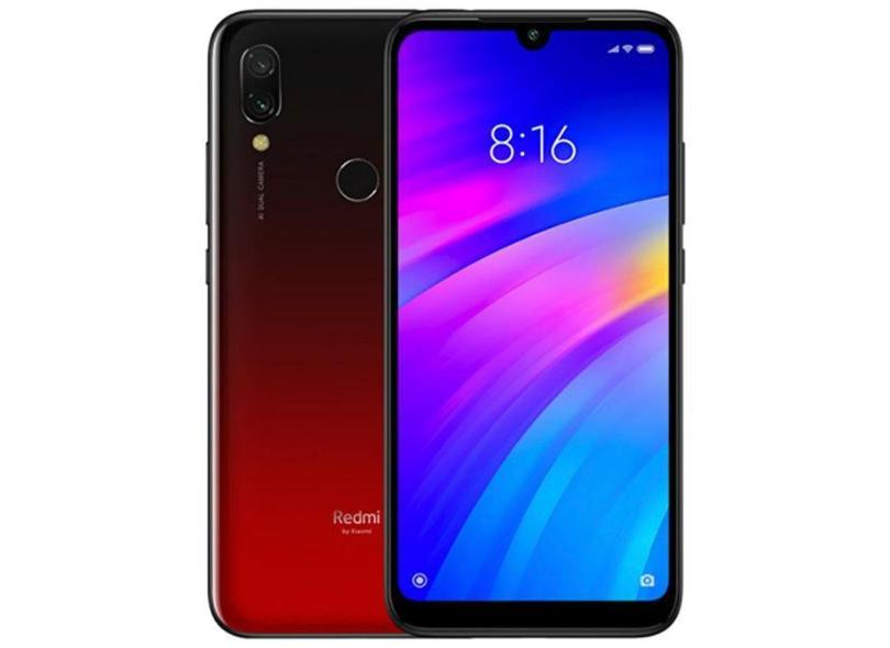 Smartphone Xiaomi Redmi 7 32GB Qualcomm Snapdragon 632 12,0 MP 2 Chips Android 9.0 (Pie) 3G 4G Wi-Fi