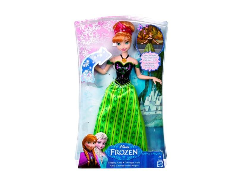 Boneca Frozen Anna Musical CJJ08 Mattel