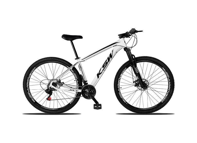 Bicicleta Mountain Bike KSW 21 Marchas Aro 29 Suspensão Dianteira a Disco Mecânico XLT