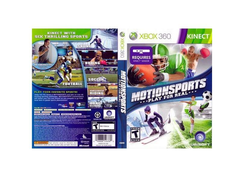 Jogo Motion Sports Ubisoft Xbox 360