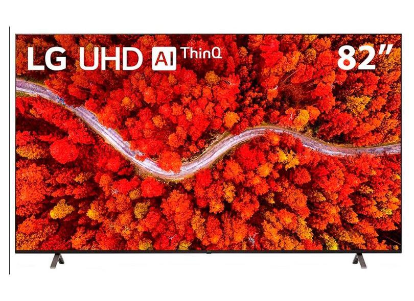 """Smart TV TV LED 82 """" LG ThinQ AI 4K HDR 82UP8050PSB 4 HDMI"""