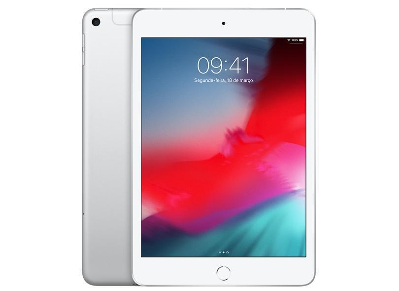 """Tablet Apple iPad Mini 5ª Geração Apple A12 Bionic 256GB Retina 7,9"""" 8 MP"""