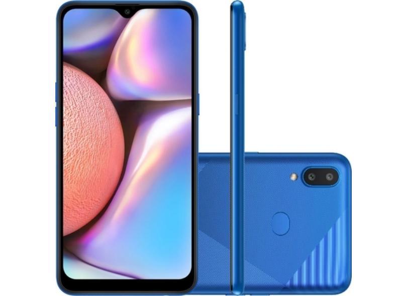 Smartphone Samsung Galaxy A10s SM-A107M 32GB Câmera Dupla MediaTek Helio P22 2 Chips Android 9.0 (Pie)
