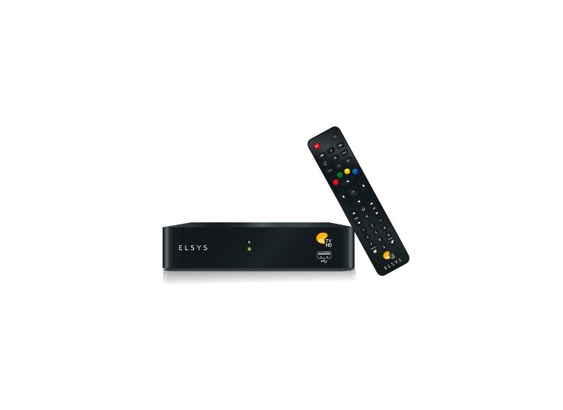Receptor de TV Digital HDMI USB Oi TV Livre HD ETRS37 Slim Elsys