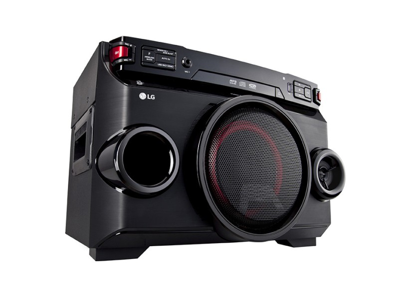 Mini System LG X Boom Festa OM4560 2000 W Karaokê Ripping Bluetooth USB