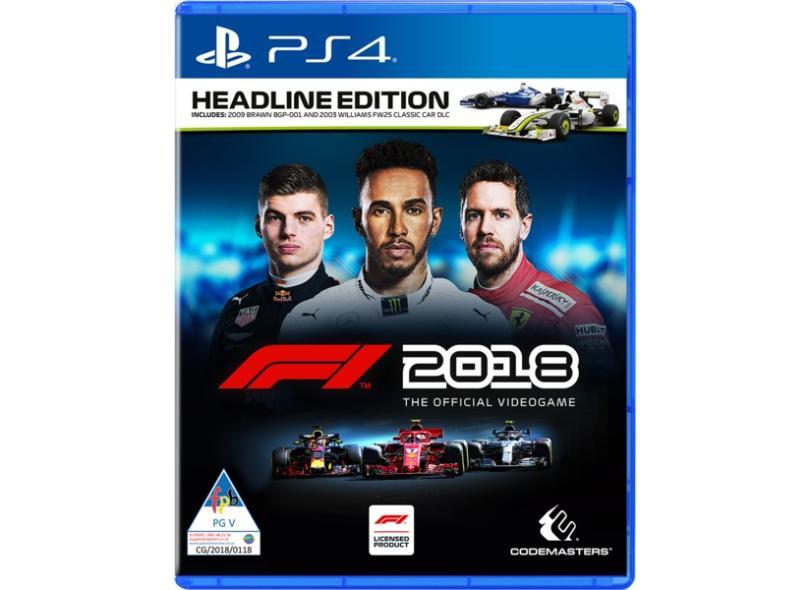 Jogo F1 2018 PS4 Codemasters