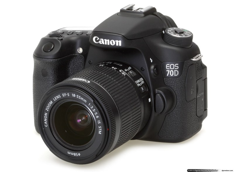 Câmera Digital Canon EOS 20.2 MP Full HD 70D