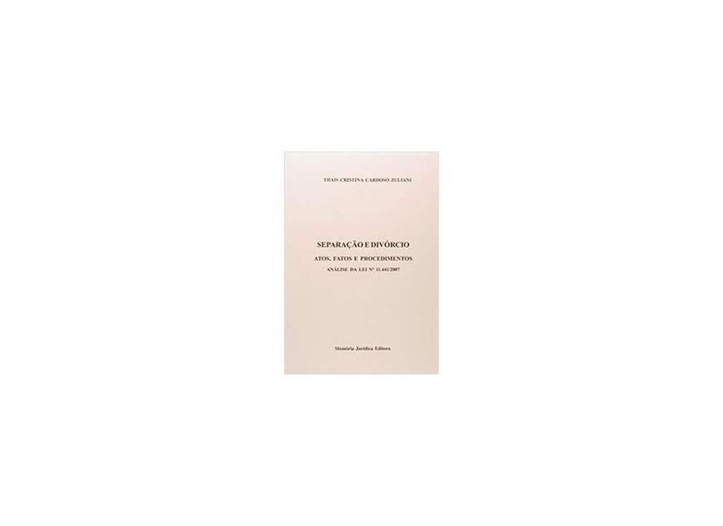 Separação E Divórcio - Thais Zuliani - 9788588264496